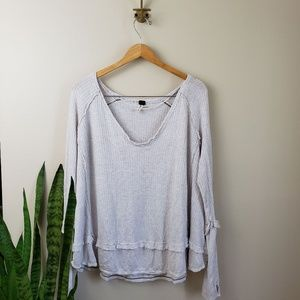 Free People Laguna Thermal Tunic Top M boho
